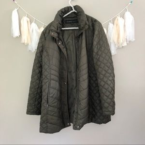 Andrew Marc Olive Green Quilted Winter Coat